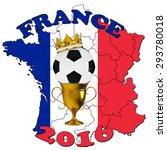 france 2016 football poster   Shutterstock . vector #293780018