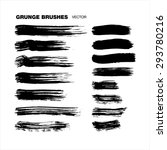 grunge brushes set   Shutterstock .eps vector #293780216