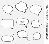empty speech bubbles for text... | Shutterstock .eps vector #293780783