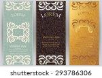 vector set of ornate vertical... | Shutterstock .eps vector #293786306