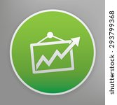 graph design icon on green...