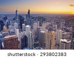 Chicago. Aerial View Of Chicag...