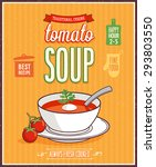 vintage tomato soup poster  ... | Shutterstock .eps vector #293803550