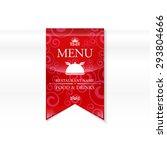 the menu for the restaurant.... | Shutterstock .eps vector #293804666