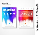 set of colorful flyers. colored ...