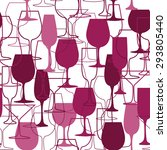 seamless background with wine... | Shutterstock .eps vector #293805440