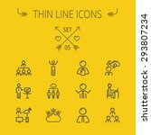 business thin line icon set for ... | Shutterstock .eps vector #293807234