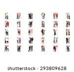 corporate teamwork standing... | Shutterstock . vector #293809628