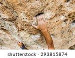 climbing  climb  rock. | Shutterstock . vector #293815874