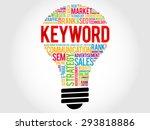 keyword bulb word cloud ... | Shutterstock .eps vector #293818886