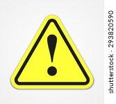 danger warning attention sign | Shutterstock . vector #293820590