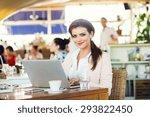 attractive young businesswoman... | Shutterstock . vector #293822450