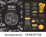Restaurant cafe menu, template design. Food flyer. | Shutterstock vector #293829758