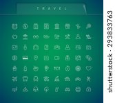 travel and vacation thin icons...