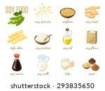 set of cartoon soy food   milk  ... | Shutterstock .eps vector #293835650