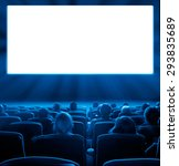 viewers watch motion picture at ... | Shutterstock . vector #293835689