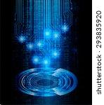 dark blue color light abstract... | Shutterstock .eps vector #293835920