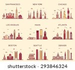 american cities. san francisco  ... | Shutterstock .eps vector #293846324