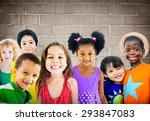 diversity children friendship... | Shutterstock . vector #293847083