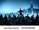 business people seminar... | Shutterstock . vector #293848988