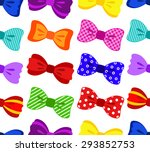 bright and colorful bow... | Shutterstock .eps vector #293852753