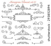 vector set. calligraphic... | Shutterstock .eps vector #293852894