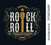 vintage rock and roll... | Shutterstock .eps vector #293853689