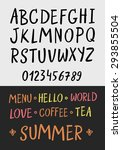 alphabet letters. hand drawn... | Shutterstock .eps vector #293855504