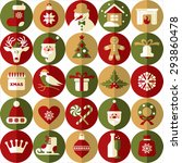 christmas design icons set.... | Shutterstock . vector #293860478