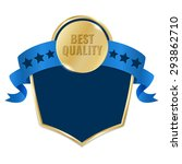 best quality gold tag with blue ... | Shutterstock .eps vector #293862710