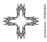 tattoo tribal vector design... | Shutterstock .eps vector #293864864