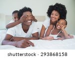 happy family having fun... | Shutterstock . vector #293868158