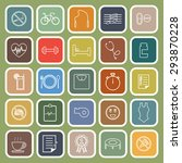 wellness line flat icons on... | Shutterstock .eps vector #293870228