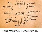 2016 goals written on orange... | Shutterstock . vector #293870516