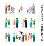 family collection with married  ... | Shutterstock .eps vector #293874269