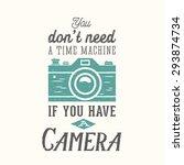 vintage camera photography... | Shutterstock .eps vector #293874734