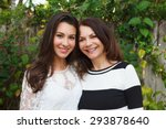 mother and daughter portrait in ... | Shutterstock . vector #293878640