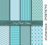 set of 8 pastel pattern ... | Shutterstock .eps vector #293878793