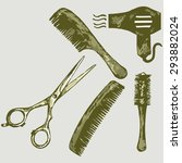 Scissors And Comb For Hair....