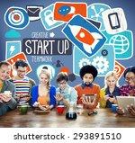 start up analysis management... | Shutterstock . vector #293891510