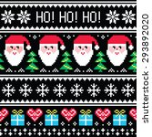 christmas jumper or sweater... | Shutterstock .eps vector #293892020