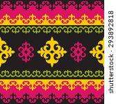 ethnic background seamless... | Shutterstock .eps vector #293892818