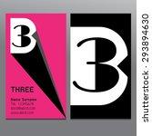 business cards three  logo... | Shutterstock .eps vector #293894630