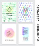 hand drawn watercolor set of... | Shutterstock .eps vector #293898350