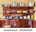 vintage kitchen utensils on... | Shutterstock . vector #293905544