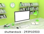 3d illustration pc screen on... | Shutterstock . vector #293910503