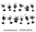 alcoholic glass collection.... | Shutterstock .eps vector #293915993