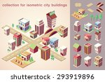 isometric city buildings... | Shutterstock .eps vector #293919896