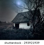 spooky house in the forest at... | Shutterstock . vector #293921939