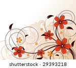 floral abstraction for design. | Shutterstock .eps vector #29393218